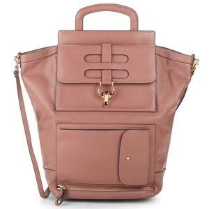 Valentino Garavani Brown Multi-pocket Leather Bag
